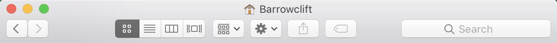 Image of the default Finder toolbar