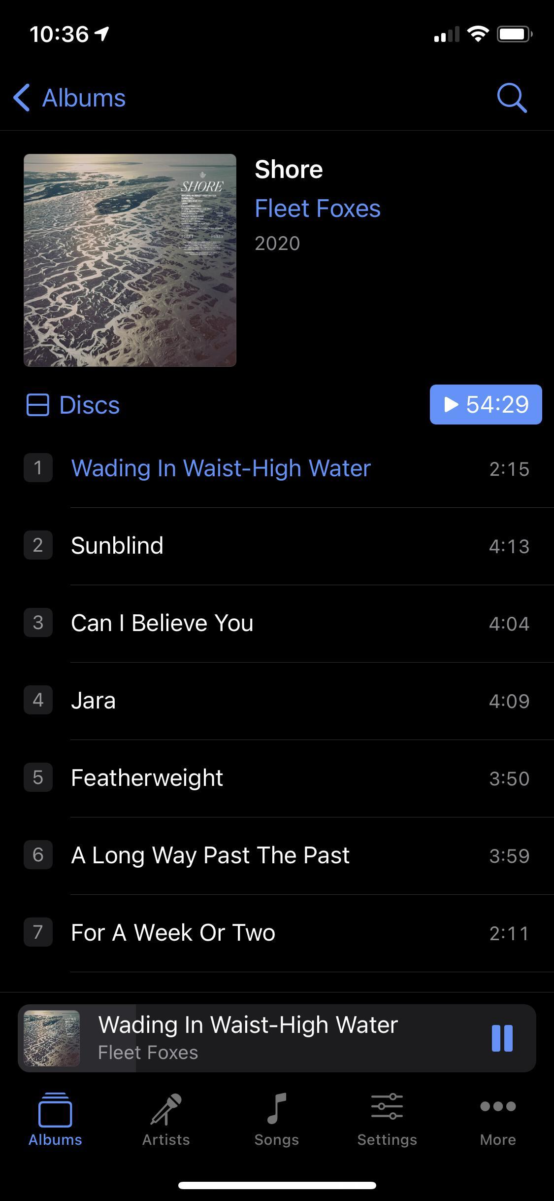 Image of 'Cs' dark album view