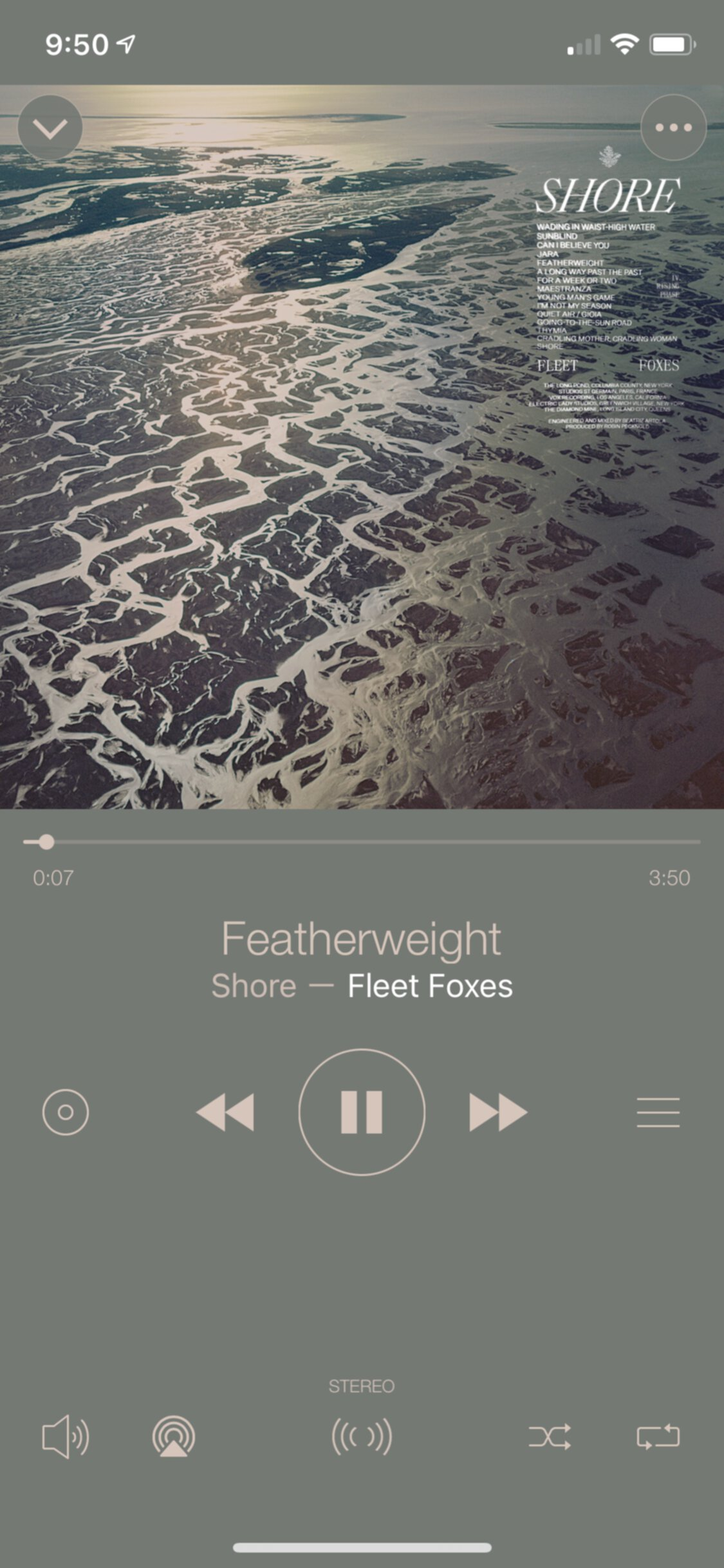 Image of 'New Monaural' light theme player view