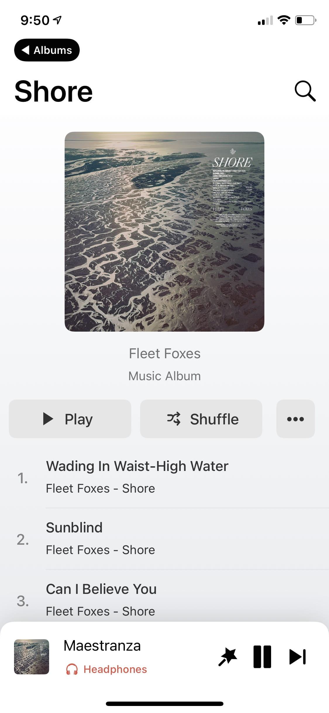 """Image of """"Soor"""" light album view"""